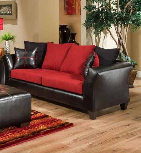 Cira Sofa Set - Cardinal