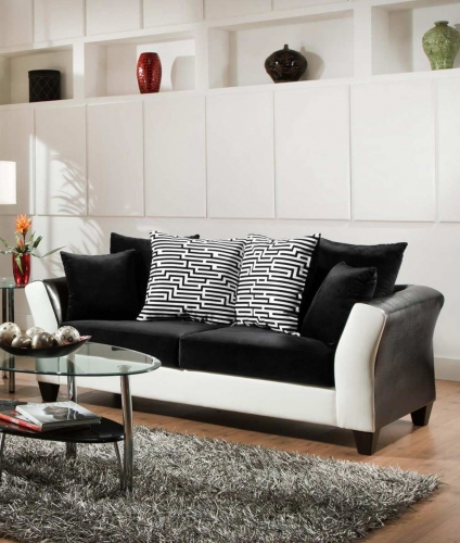 Tau Sofa - Jefferson Black/Avanti White