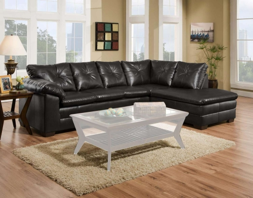 Epsilon 2 Piece Sectional Sofa - Freeport Black