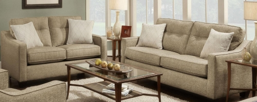 Colby Sofa Set - Light Brown