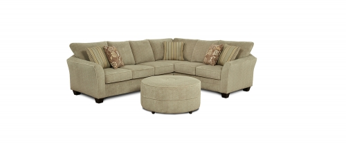 Dallon 2 pcs Sectional Sofa Set - Beige