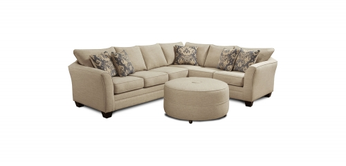 Darby 2 pcs Sectional Sofa Set - Ikat Beige
