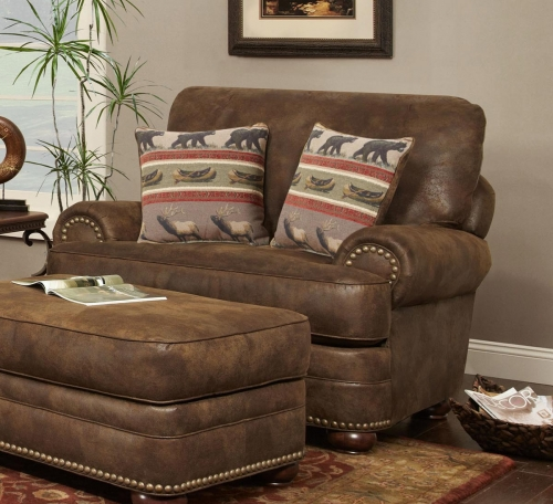 Drew Accent Chair - Brown