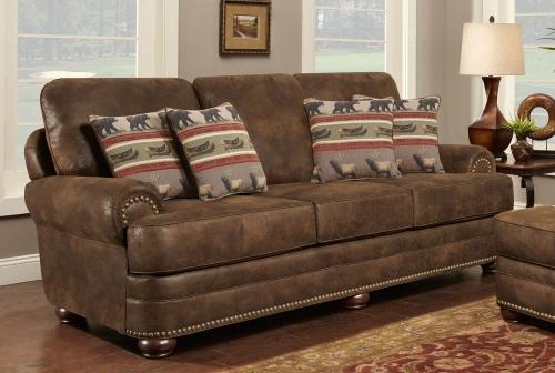 Drew Sofa Set - Brown