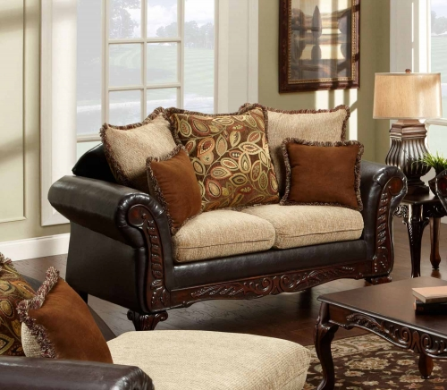 Trixie Loveseat - Radar Havana/Bi-Cast Brown