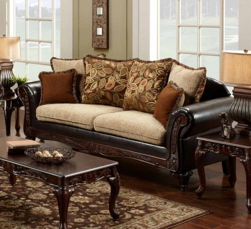 Trixie Sofa - Radar Havana/Bi-Cast Brown