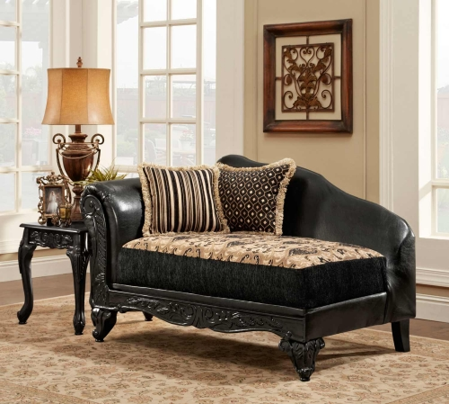 Gwendolyn Chaise - Monte Carlo Ebony/Bi-Cast Ebony