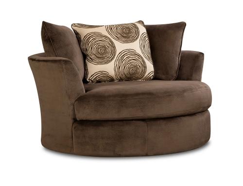 Rayna Swivel Chair - Groovy Chocolate