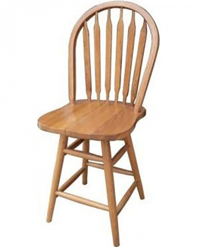 Gatlin 24-inch Barstool Chair - Harvest Oak