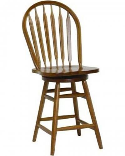 Gatlin 24-inch Barstool Chair - Medium Oak