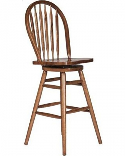 Gentry 30-inch Barstool Chair - Medium Oak