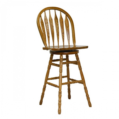 Greyton 30-inch Barstool - Medium Oak