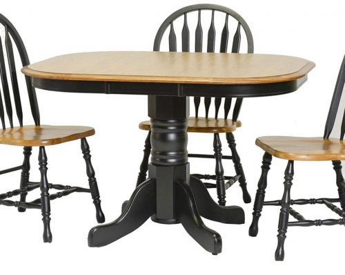 Temple High Pedestal Table - Harvest/Black