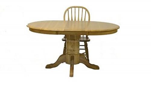 Tory Pedestal Table - Harvest Oak