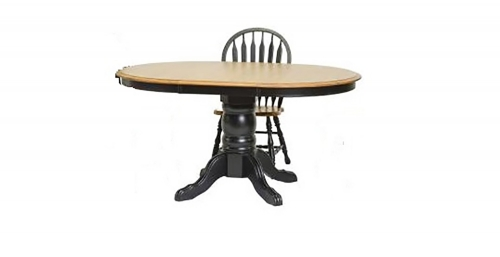 Tory Pedestal Table - Harvest/Black