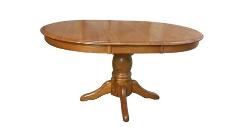 Lacewood 30-inch High Pedestal Table - Medium Oak