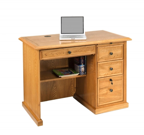 Lavender Desk - Harvest Oak