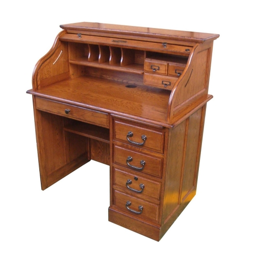 Moon 42-inchStudent Roll Top Desk - Burnished Walnut