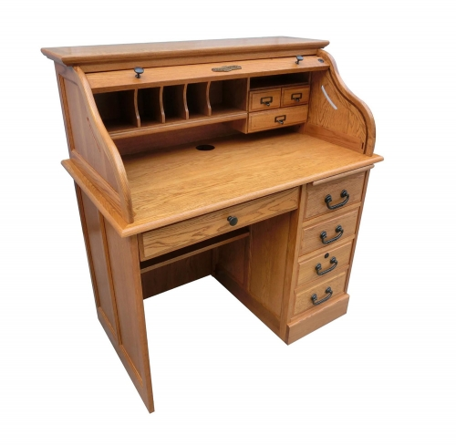 Moon 42-inchStudent Roll Top Desk Top - Harvest Oak