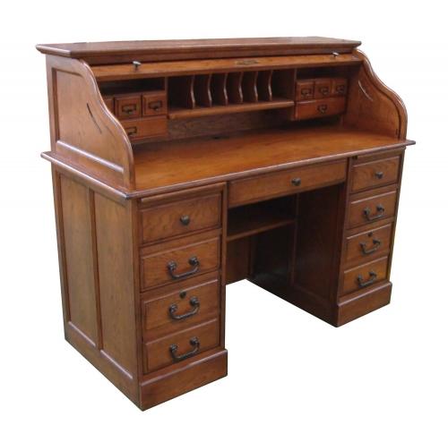 Mylan 54-inch Roll Top Desk Top - Burnished Walnut
