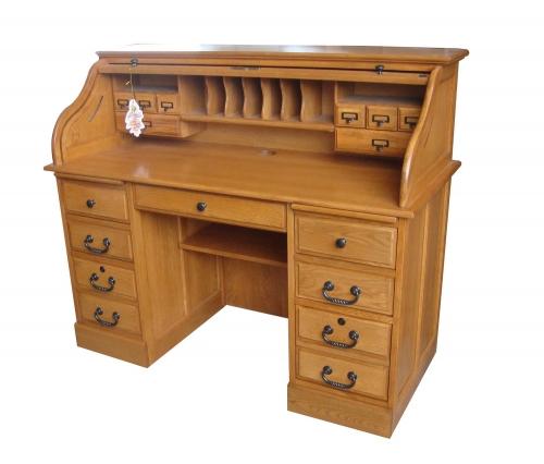Mylan 54-inch Roll Top Desk Top - Harvest Oak