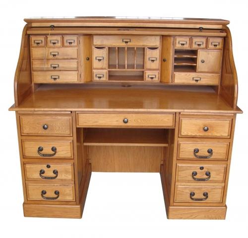 Marlin 54-inch Deluxe Roll Top Desk Top - Harvest Oak