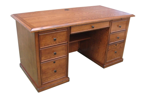 Mallow 60-inch Desk - Burnished Walnut