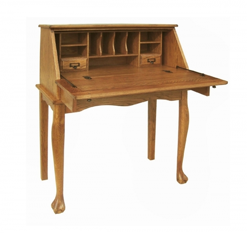 Nolan Secretary Drop Leaf Desk - Harvest Oak