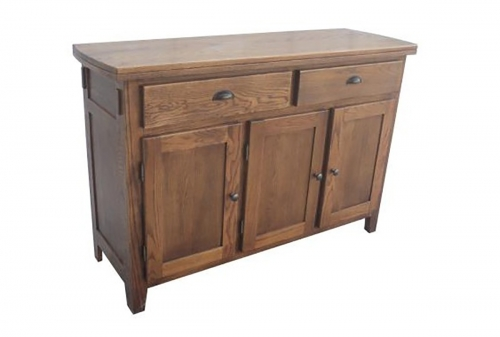 Baywood Server - Medium Oak
