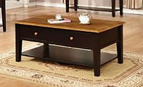 Tempest End Table - Harvest/Black
