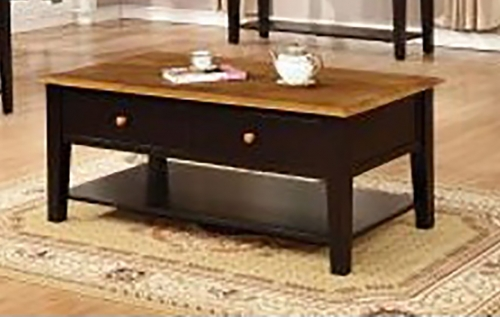 Valentine coffee Table - Harvest/Black