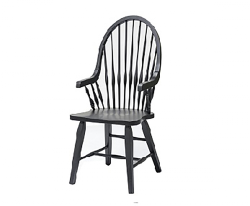 Teakwood Arm Chair - Black