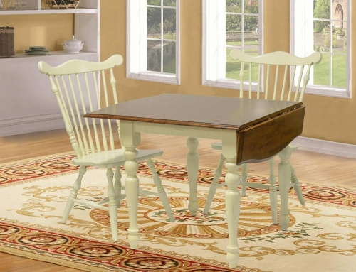 Boxborough Table - Buttermilk/Cherry
