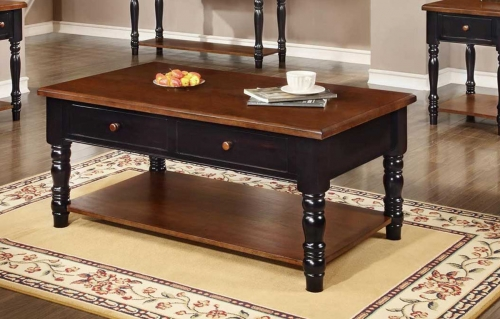 Brimfield Table - Black/Cherry