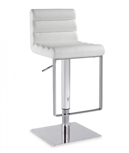 0830 Adjustable Height Swivel Stool - White