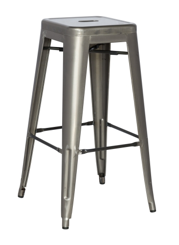 8015 Cold Roll Steel Bar Stool - Gun Metal