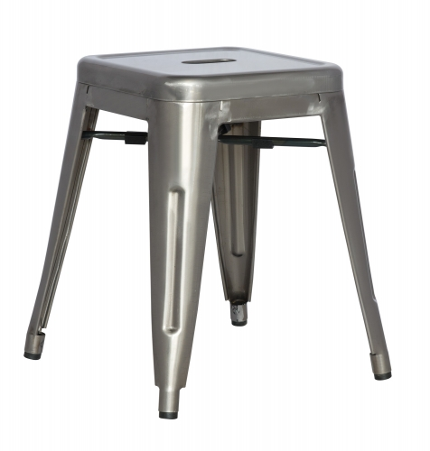 8018 Cold Roll Steel Side Chair - Gun Metal