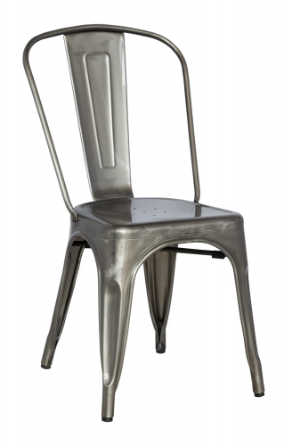 8022 Cold Roll Steel Side Chair - Gun Metal