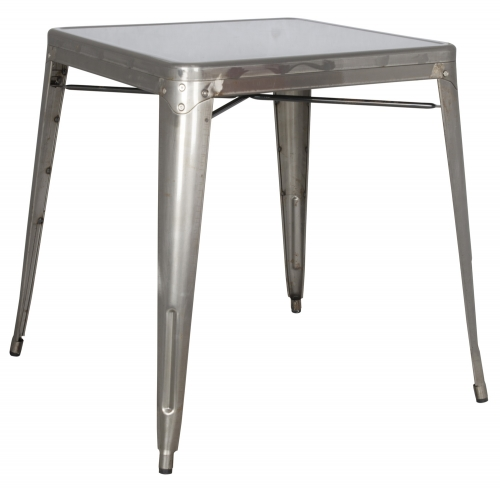 8029 Cold Roll Steel Dining Table - Gun Metal