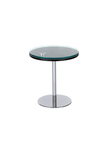 8176 Motion Lamp Table - Glass/Wood/Chrome
