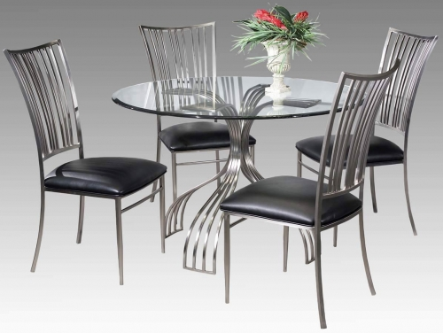 Imports ASHTYN DT SET Ashtyn Round Dining Collection Side Chair 374 1580