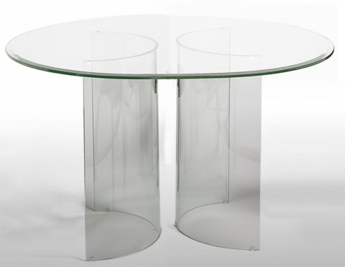 Imports CBASE DT C Base Round Table Glass Top 353 24