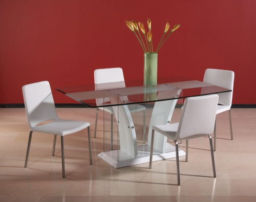 Imports FLAIR DT WHT SET Flair Dining Collection 408 1878