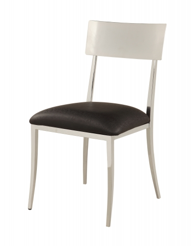 Lindsay Open Back Side Chair - Chrome