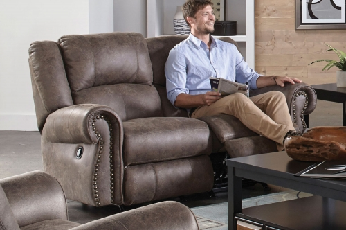 Westin Power Reclining Loveseat - Ash