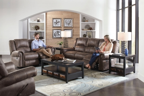 CatNapper Westin Power Reclining Sofa Set - Ash