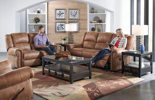 Westin Power Reclining Sofa Set - Nutmeg