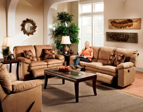 Impulse Reclining Sofa Set - Cafe