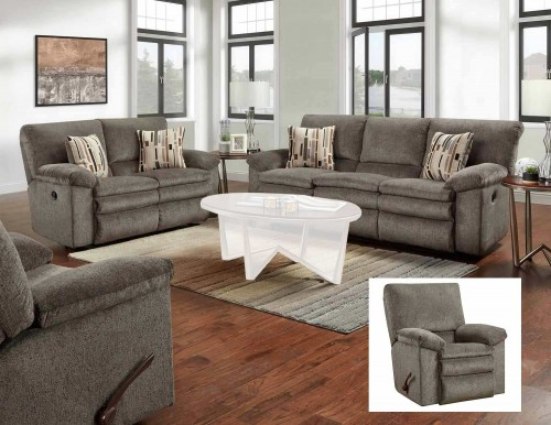 Tosh Reclining Sofa Set - Pewter