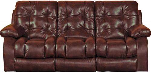 Watson Power Lay Flat Reclining Sofa - Burgundy